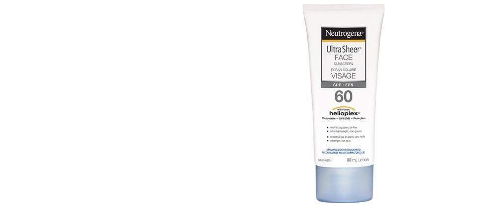 Écran solaire NEUTROGENA® ULTRA SHEER® Visage FPS 60