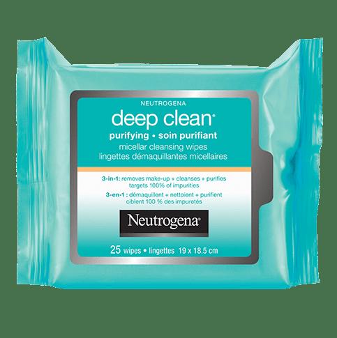 Lingettes micellaires démaquillantes NEUTROGENA DEEP CLEAN® Soin purifiant