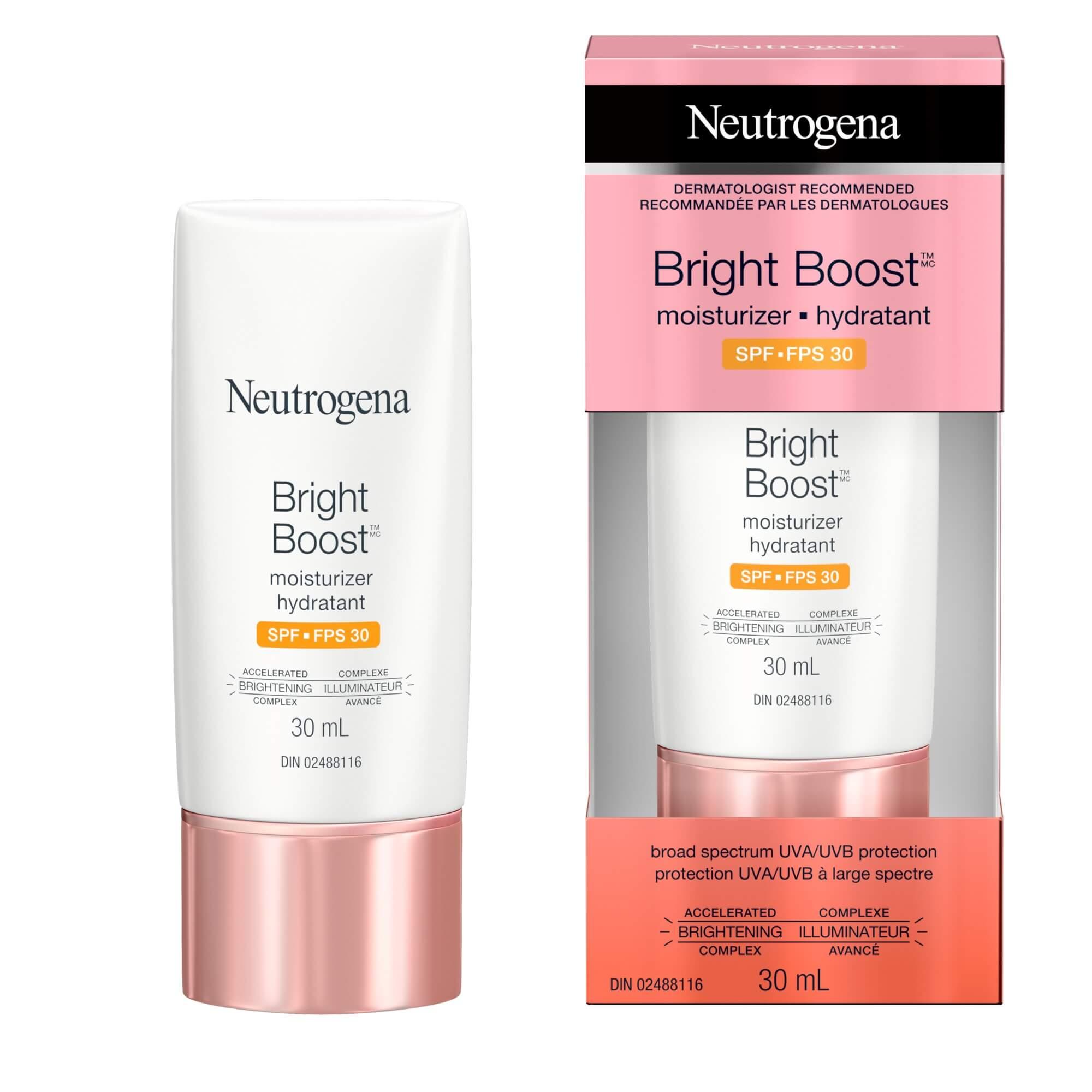 Hydratant Neutrogena Bright BoostMC avec FPS 30, 30 ml