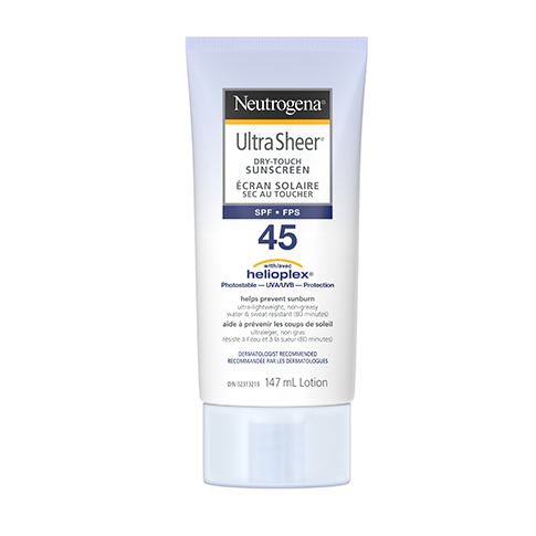 Neutrogena Ultra Sheer Dry Touch SPF 45 Sunscreen Lotion, 147ml