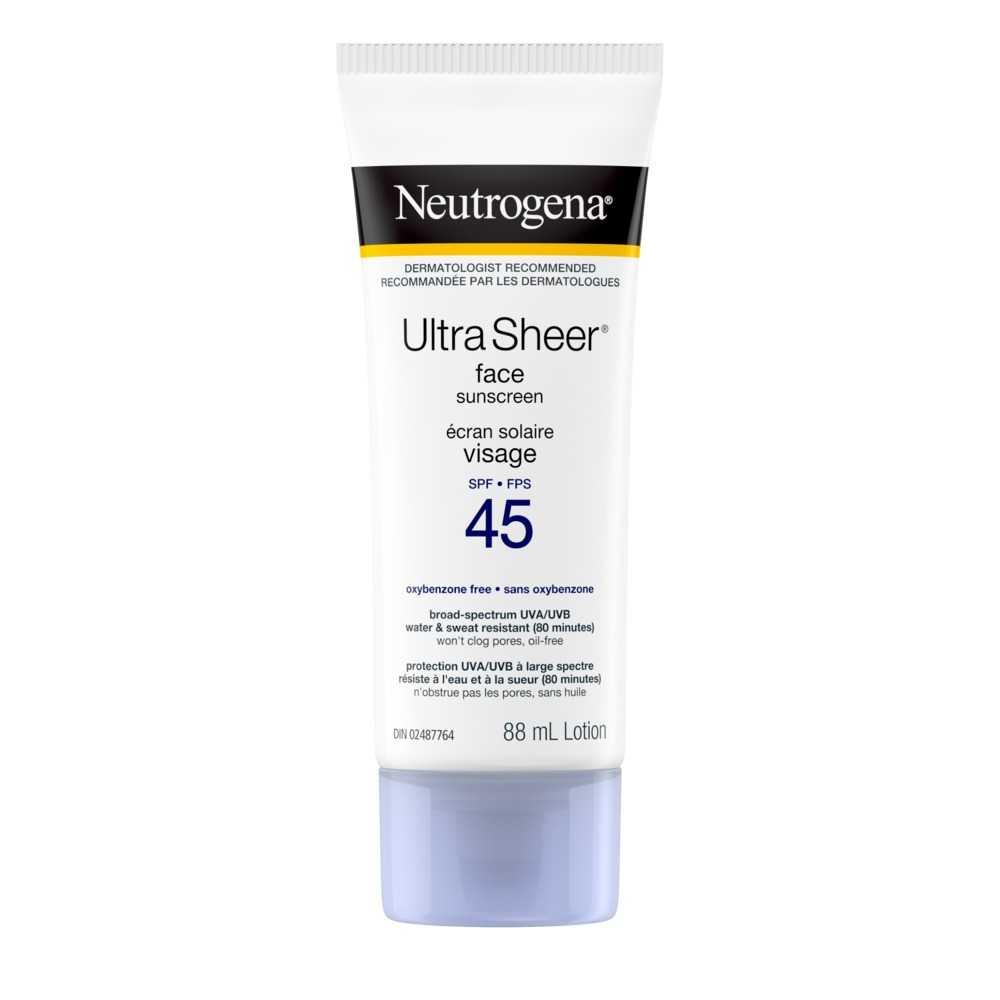 Écran solaire NEUTROGENA® ULTRA SHEER® Visage FPS 45