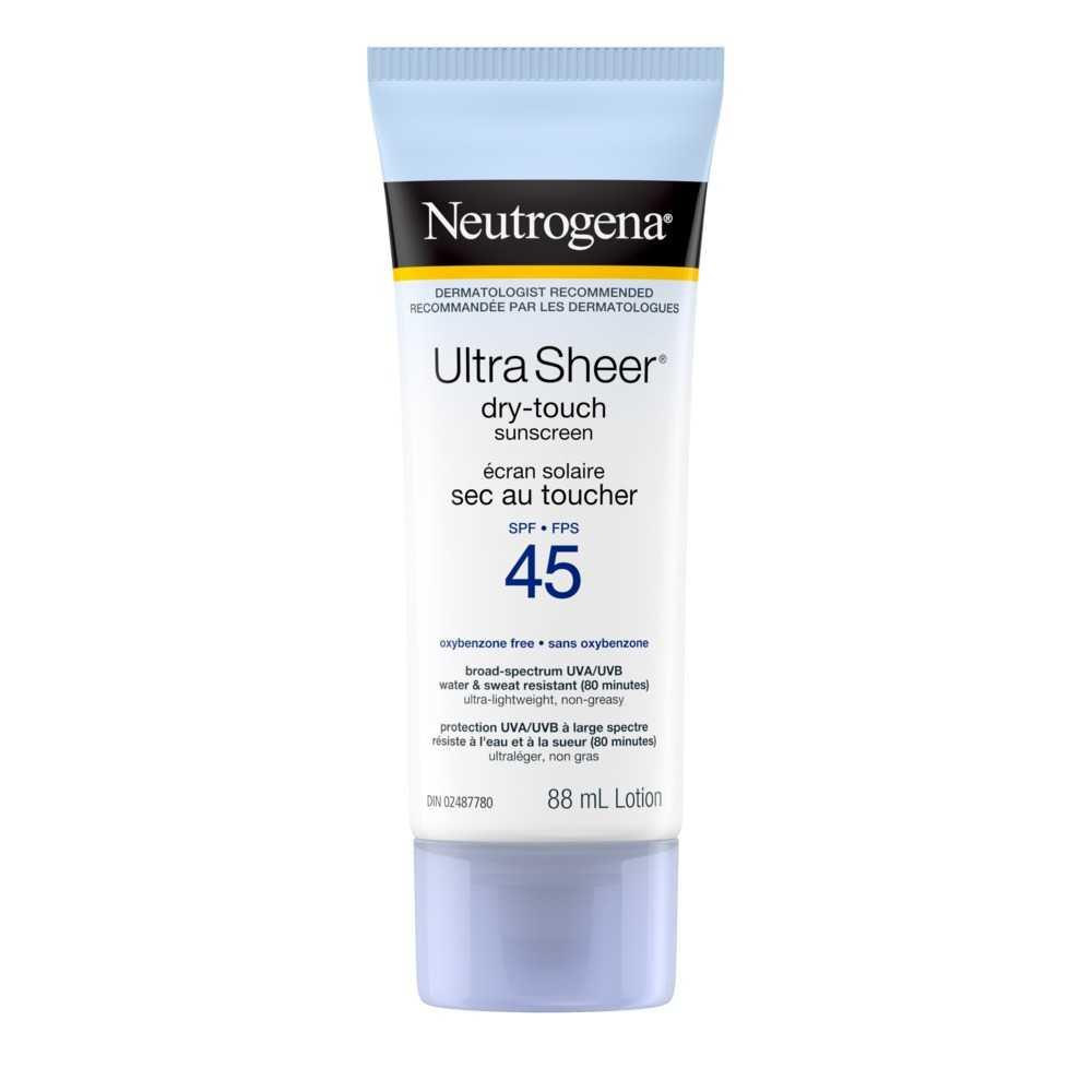 Neutrogena Ultra Sheer Dry Touch SPF 45 Sunscreen Lotion, 88ml