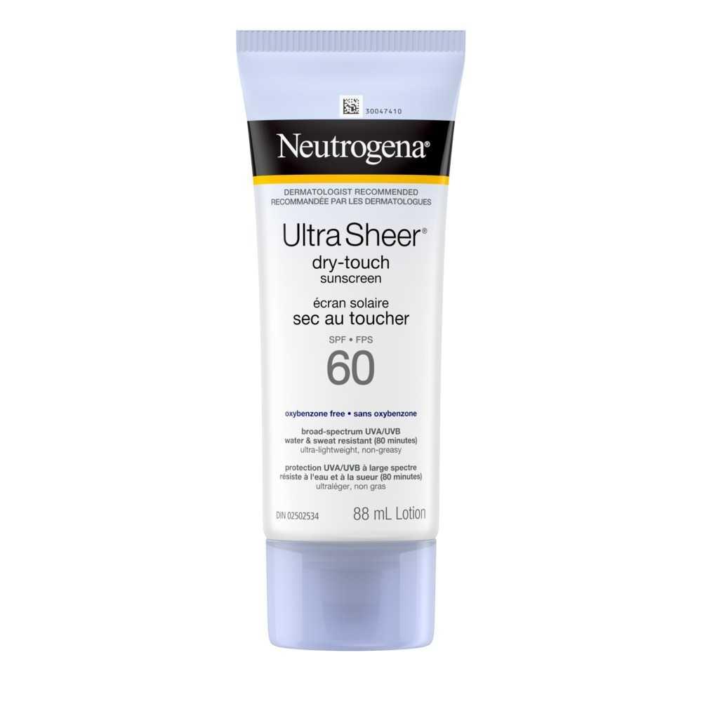 Neutrogena Ultra Sheer SPF 60 Sunscreen Squeeze Bottle, 88ml