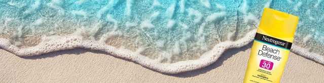 Écran solaire NEUTROGENA® Beach Defense® sur la plage