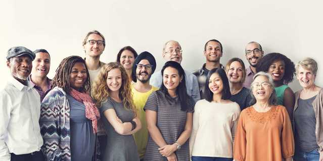 Group of multicultural people smiling