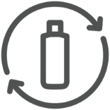 Matériaux recyclés post-consommation - icône de durabilité Johnson & Johnson