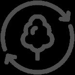 Fibres de bois -  icône de durabilité Johnson & Johnson