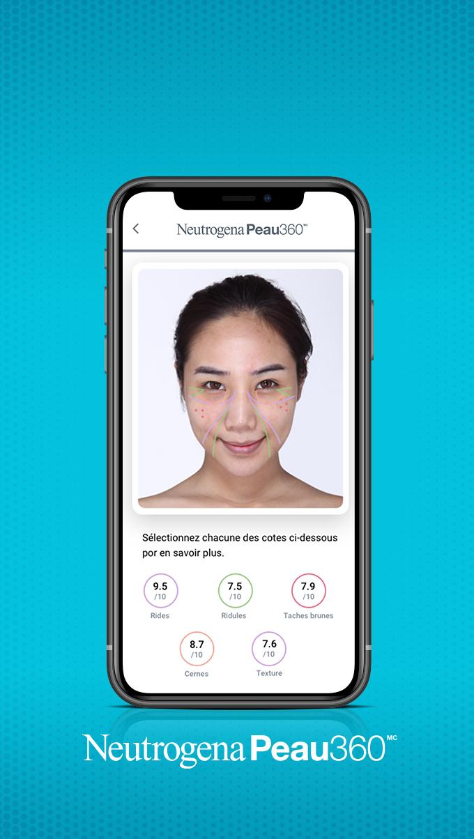 Image qui montre l'application Neutrogena Peau360