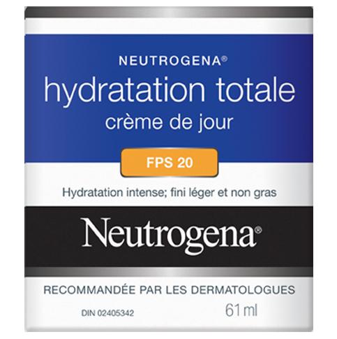 Crème de jour NEUTROGENA® Hydratation totale FPS 20