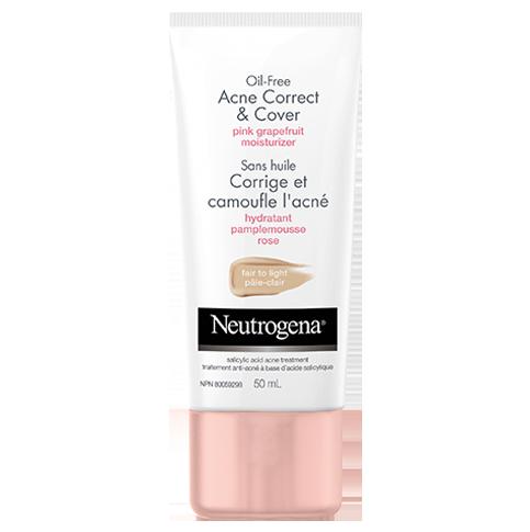 Hydratant sans huile au pamplemousse rose NEUTROGENA®Corrige et camoufle l'acné – pâle-clair