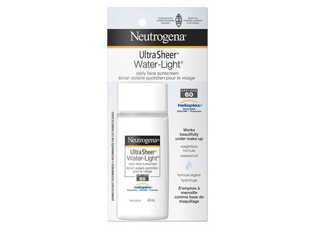 Écran solaire quotidien pour le visage NEUTROGENA® ULTRA SHEER® WATER-LIGHT® FPS 60